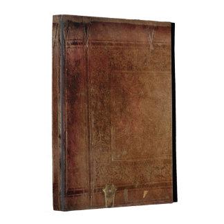 Caisse en bois antique vintage de folio d'iPad d'i Étui iPad Folio