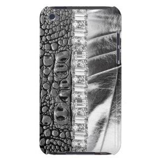 Caisse en cuir métallique d'iPod de fausse pierre  Coques Barely There iPod