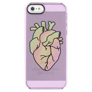 Caisse en pastel de téléphone de coeur coque iPhone clear SE/5/5s