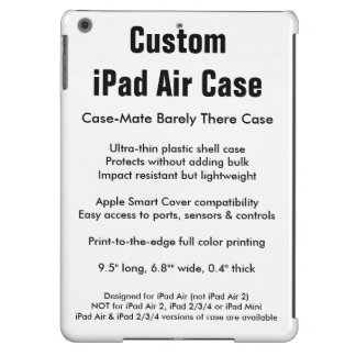 Caisse faite sur commande d'air d'iPad - Coque iPad Air