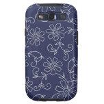 Caisse florale bleue et blanche de la galaxie S de Coques Galaxy S3