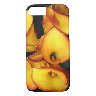 Caisse florale jaune de téléphone coque iPhone 8/7
