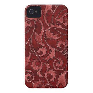 Caisse florale rouge de regard de velours de scint