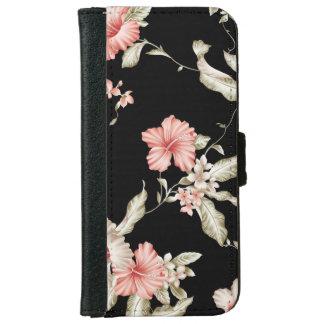 Caisse florale vintage de portefeuille de ketmie coque avec portefeuille pour iPhone 6