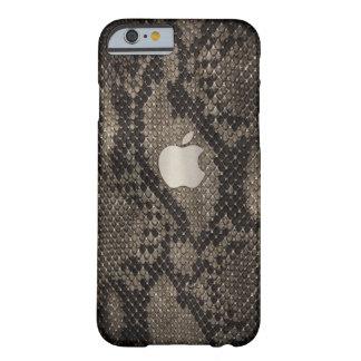 Caisse foncée de style de peau de serpent coque iPhone 6 barely there