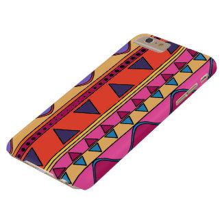 Caisse géométrique tribale colorée de téléphone de coque barely there iPhone 6 plus