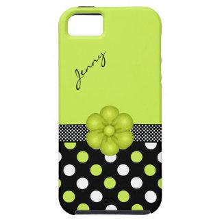 Caisse Girly Chartreuse et noire de l'iPhone 5 iPhone 5 Case