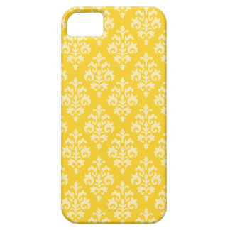 Caisse jaune chic de l'iPhone 5 de damassé Étuis iPhone 5