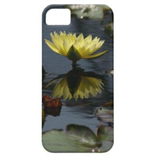 Caisse jaune de téléphone de nénuphar coques iPhone 5 Case-Mate