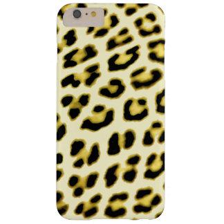 Caisse jaune d'empreinte de léopard coque iPhone 6 plus barely there