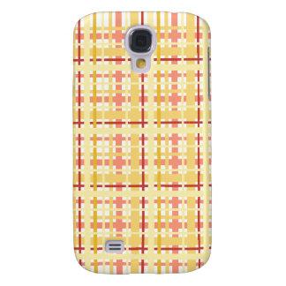 Caisse jaune et rose de l'iPhone 3G de plaid Coque Galaxy S4