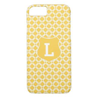 Caisse marocaine jaune de l'iPhone 7 d'initiales Coque iPhone 8/7