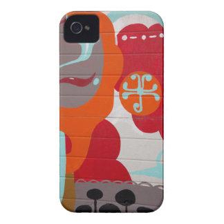CAISSE MARRON DE BLACKBERRY DE GRAFFITI COQUES iPhone 4