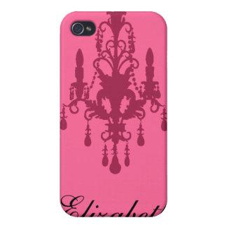 Caisse marron et rose de l'iPhone 4 de lustre Coque iPhone 4 Et 4S