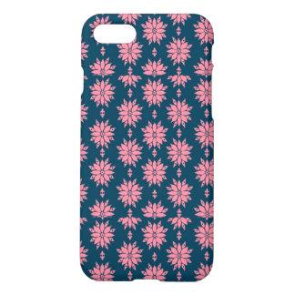 Caisse mate de bleu marine et d'Iphone 7 roses Coque iPhone 7