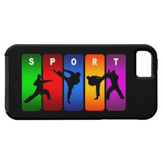 Caisse multicolore de l'iPhone 5 de karaté Étui iPhone 5