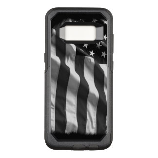 Caisse noire de drapeau américain coque samsung galaxy s8 par OtterBox commuter