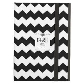 Caisse noire et blanche de Chevron