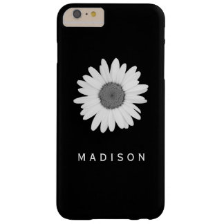 Caisse noire et blanche de fleur de marguerite de coque barely there iPhone 6 plus