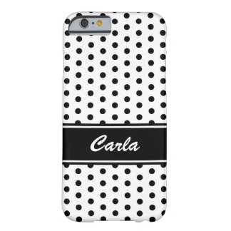 Caisse noire et blanche de l'iPhone 6 de pois Coque Barely There iPhone 6