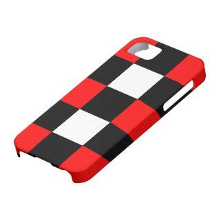 Caisse noire et blanche rouge fraîche de l'iPhone  Étuis iPhone 5