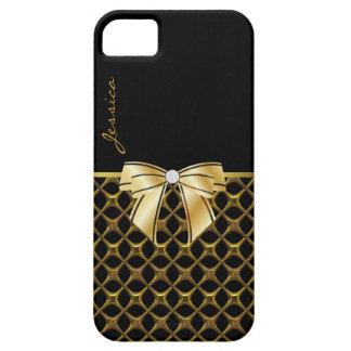 Caisse noire et goldtone chic de l'iPhone 5 Coque iPhone 5 Case-Mate