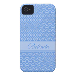 Caisse nommée du bleu iphone4S de couture Coques iPhone 4 Case-Mate