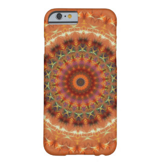 Caisse orange de l'iPhone 6 de mandala de la terre