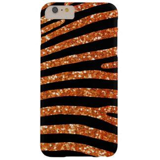 Caisse orange de rayure de zèbre de parties coque barely there iPhone 6 plus