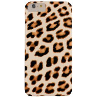 Caisse orange d'empreinte de léopard coque iPhone 6 plus barely there