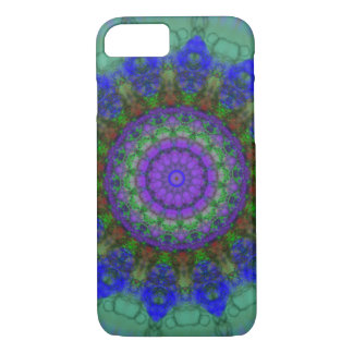 Caisse pourpre de l'iPhone 7 de mandala Coque iPhone 7