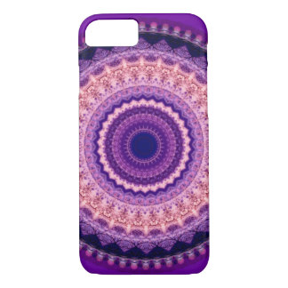 Caisse pourpre de l'iPhone 7 de mandala de paradis Coque iPhone 7