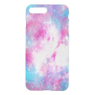 Caisse rose de galaxie coque iPhone 7 plus