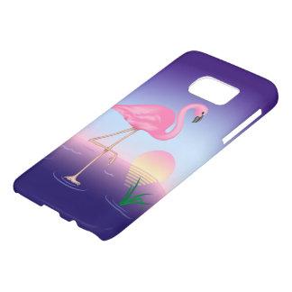 Caisse rose de la galaxie S7 de Samsung de flamant Coque Samsung Galaxy S7