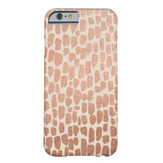 Caisse rose de l'iPhone 6/6s de taches d'or et de Coque iPhone 6 Barely There