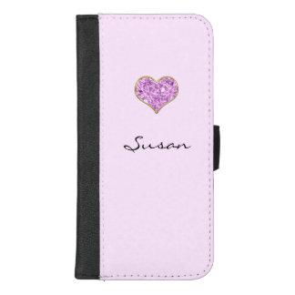 Caisse rose de portefeuille de téléphone portable