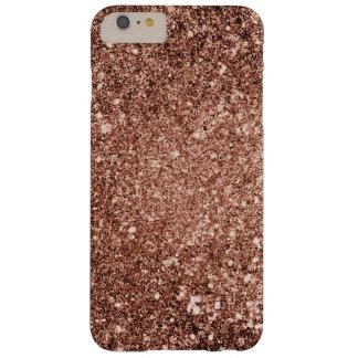 Caisse rose de téléphone de scintillement d'or coque barely there iPhone 6 plus