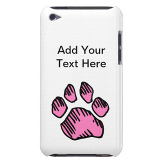 Caisse rose d'iPod de point d'animaux d'empreinte