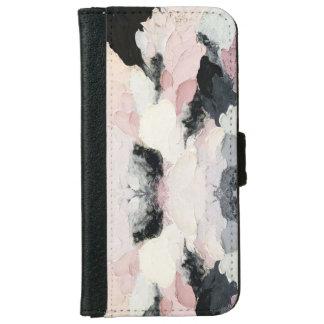 Caisse rose et noire de portefeuille de l'iPhone