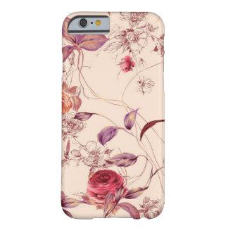 Caisse rose florale vintage élégante de l'iPhone 6 Coque Barely There iPhone 6