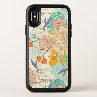 Caisse rose moderne de l'iPhone X de motif de