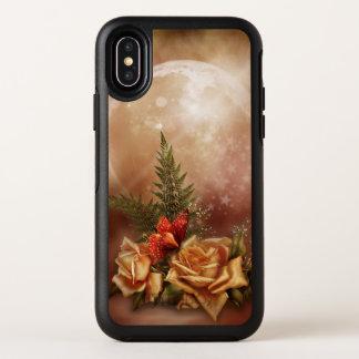Caisse rose romantique de l'iPhone X d'OtterBox
