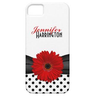 Caisse rouge chic de l'iPhone 5 de point de polka  Coques Case-Mate iPhone 5