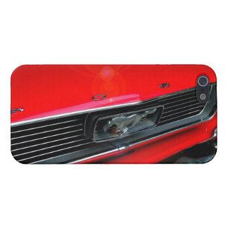 Caisse rouge classique du mustang iPhone5 Étuis iPhone 5