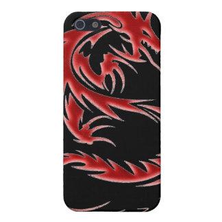 Caisse rouge d iPod de dragon Étui iPhone 5