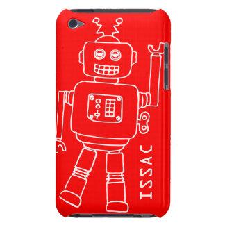 Caisse rouge d'amusement et blanche de contact d'i étui iPod touch