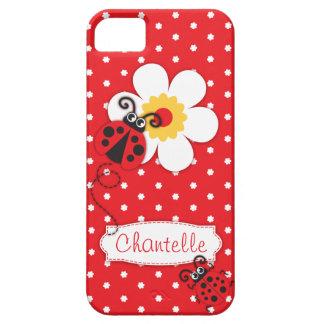 Caisse rouge de l'iphone 5 de coccinelle de nom coques iPhone 5 Case-Mate