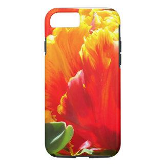Caisse rouge de l'iPhone 7 de tulipe de perroquet Coque iPhone 7