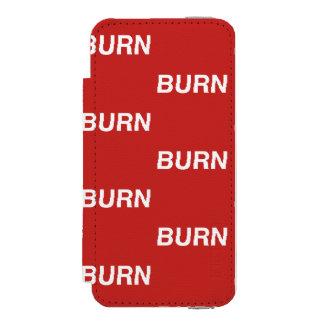 caisse rouge de portefeuille de burnXburn Coque-portefeuille iPhone 5 Incipio Watson™