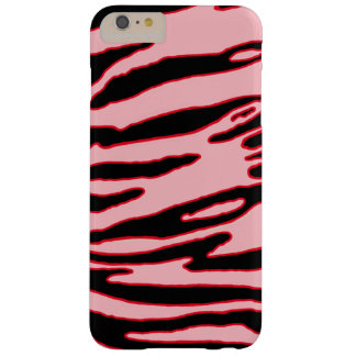 Caisse rouge de rayure de tigre coque iPhone 6 plus barely there